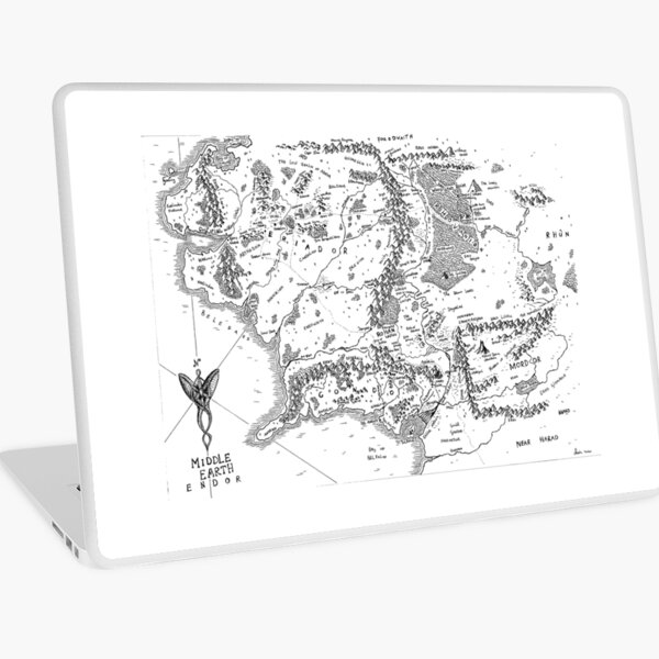 Fantasy Map Middle -earth Laptop Skin