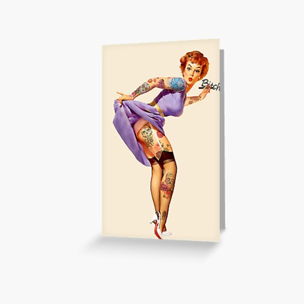 Redhead Pin-up Greeting Card