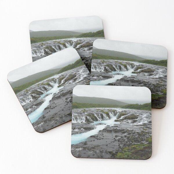 Bruarfoss waterfall, Iceland Coasters (Set of 4)