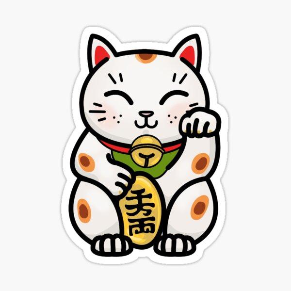 Maneki Neko Japanese Lucky Cat Sticker