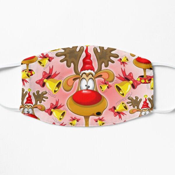 Reindeer Fun Christmas Cartoon with Bells Alarms Flat Mask