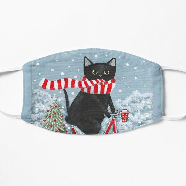 Balade en vélo d'hiver Black Cat Masque sans plis