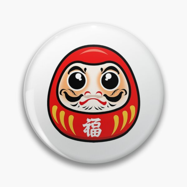 Daruma - Japanese Lucky Charm Pin