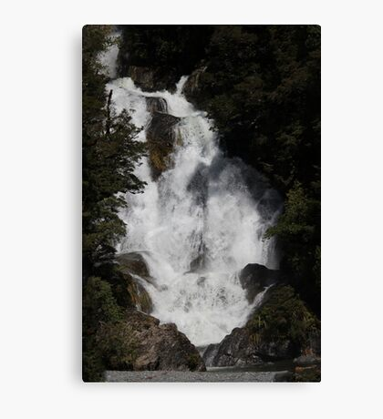 Wonderful Wide Waterfall - NZ  Canvas Print