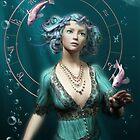 Pisces Zodiac Fantasy Circle by Britta Glodde