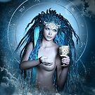 Aquarius Zodiac Fantasy Circle von Britta Glodde