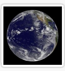 Full Earth showing various tropical storms. Sticker