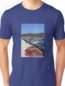 Red Fishing Net and Fishing Boats in Datca T-Shirt