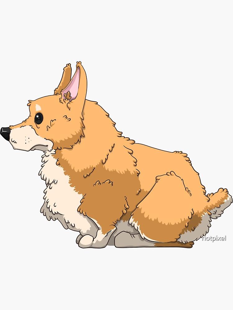 Fluffy Butt Welsh Corgi Dog by riotpixel
