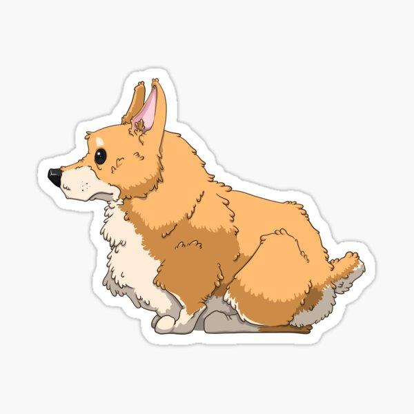 Fluffy Butt Welsh Corgi Dog Sticker