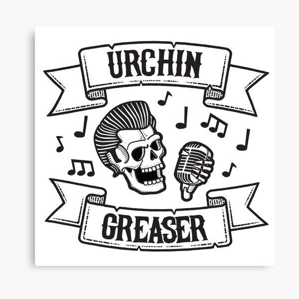 Urchin Greaser Rockabilly Logo  Canvas Print