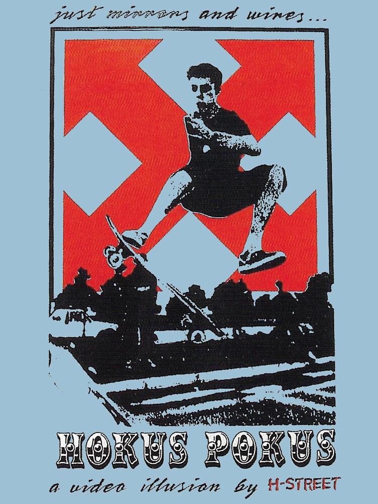 Hokus pokus, H-Street skateboard t shirt design.  by VintageSkate