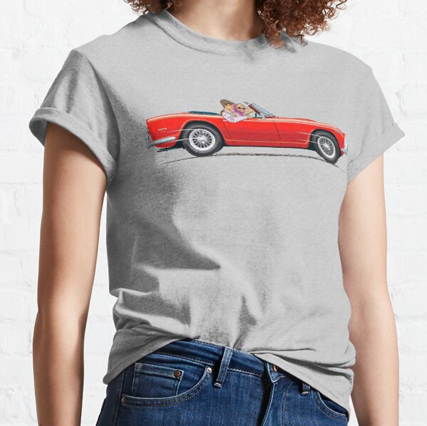 TR5 in Signal Red in right hand drive – with optional wire wheels Classic T-Shirt