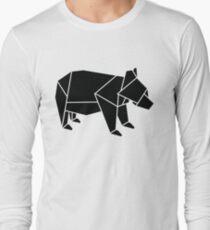 Origami Bear Long Sleeve T-Shirt