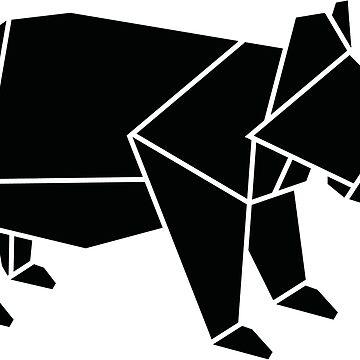 Origami Bear by CalumLamb