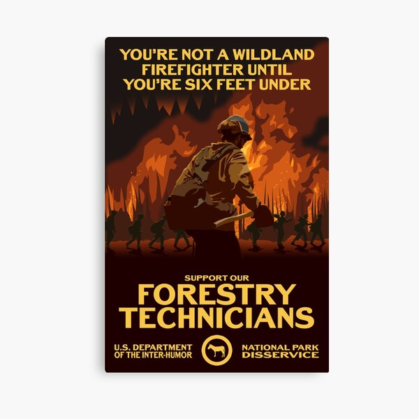 Support Our Forestry Technicians Canvas Print