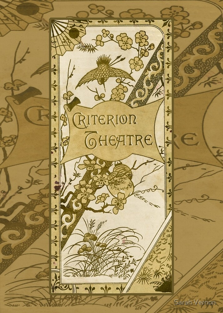 The Criterion Theatre 1890s by Sarah Vernon