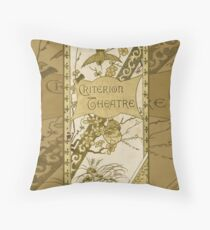 The Criterion Theatre 1890s Throw Pillow
