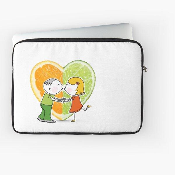 Orange und Limette ... eine große Liebe? Laptoptasche