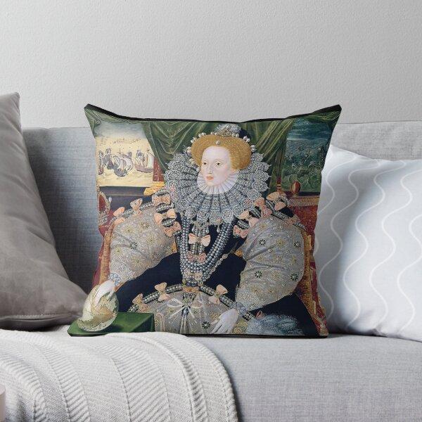 Queen Elizabeth I. Armada Portrait. Throw Pillow