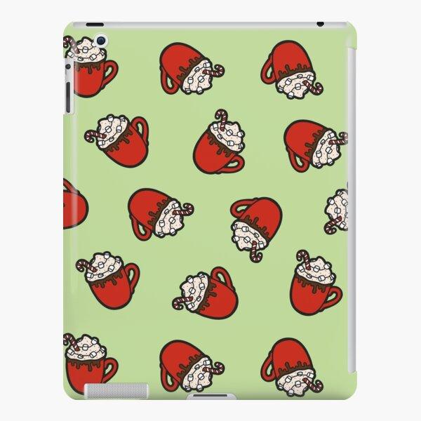 Festive Hot Cocoa Pattern in Mint Green iPad Snap Case
