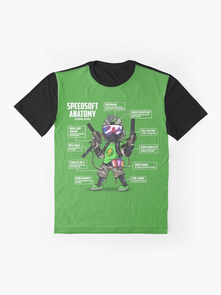 Alternate view of SPEEDSOFT ANATOMY (White writing) Graphic T-Shirt