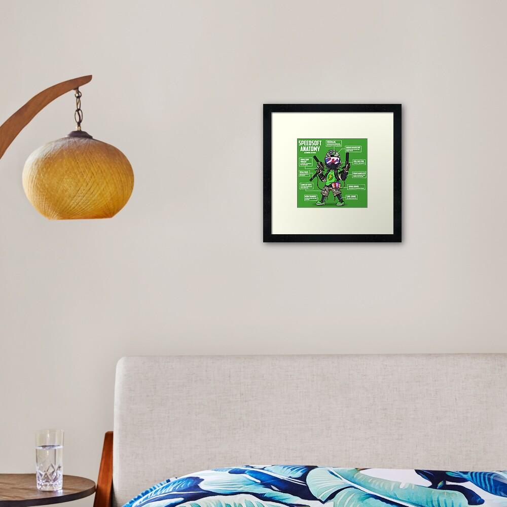 SPEEDSOFT ANATOMY (White writing) Framed Art Print