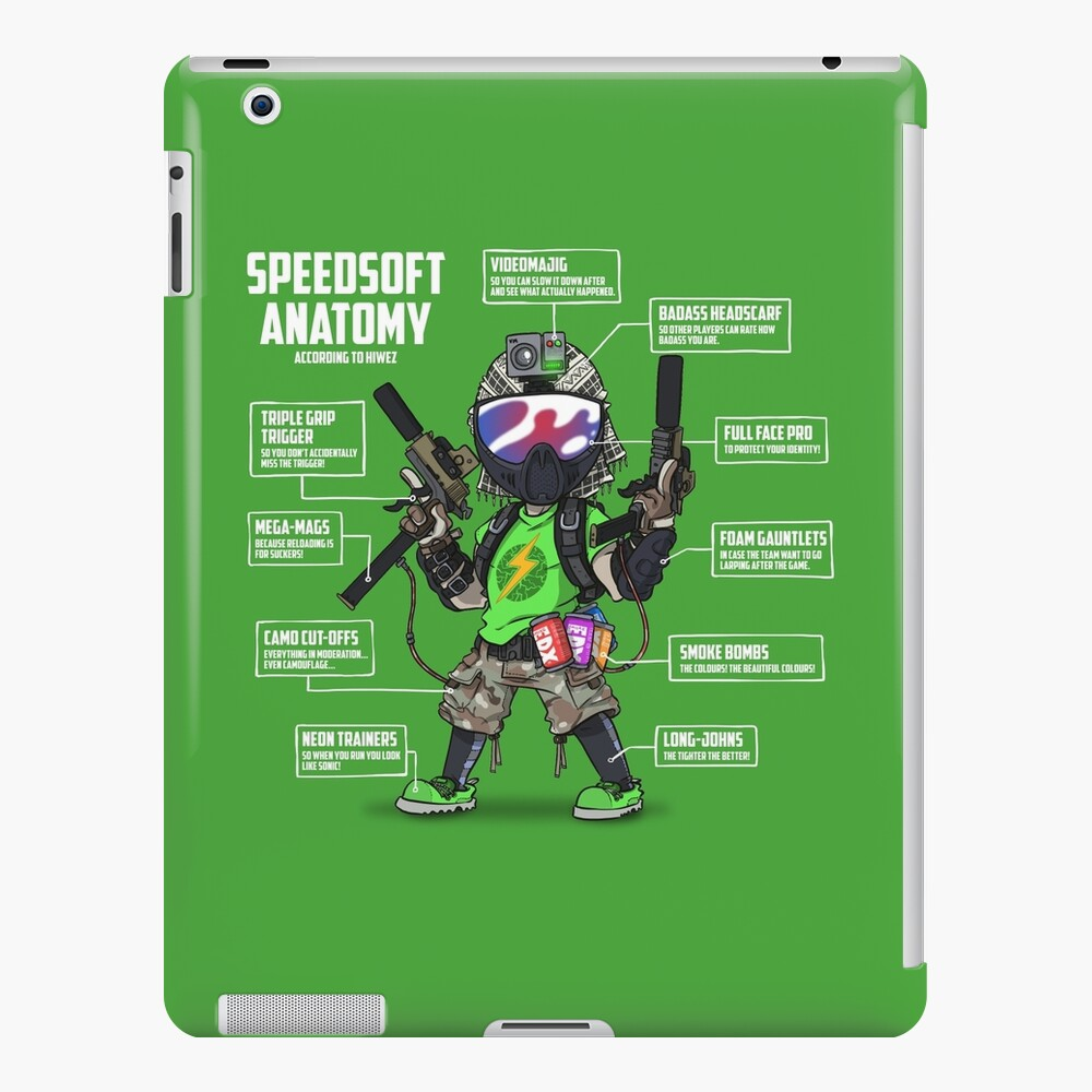 SPEEDSOFT ANATOMY (White writing) iPad Case & Skin