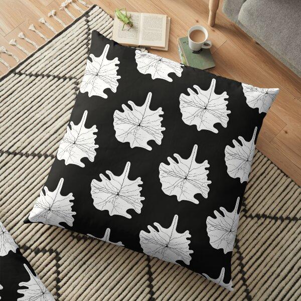 Cajal Illustration, Pyramidal Cell, silhouette Floor Pillow