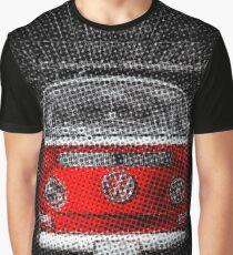 Red combi Volkswagen Half Tone Graphic T-Shirt