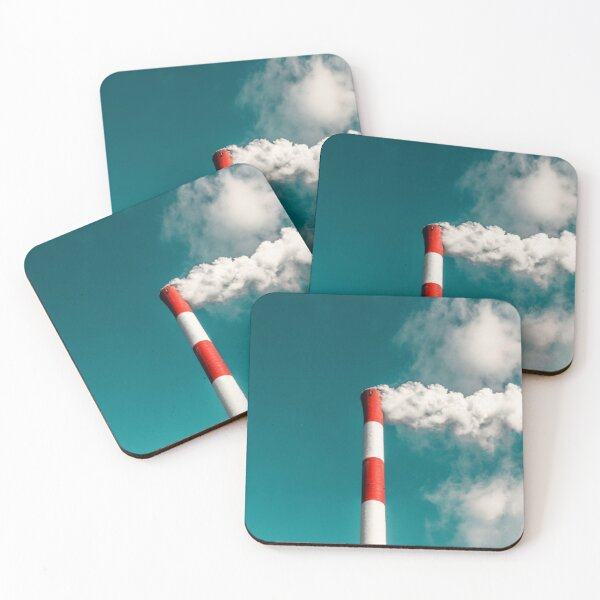 Pollution air Coasters (Set of 4)