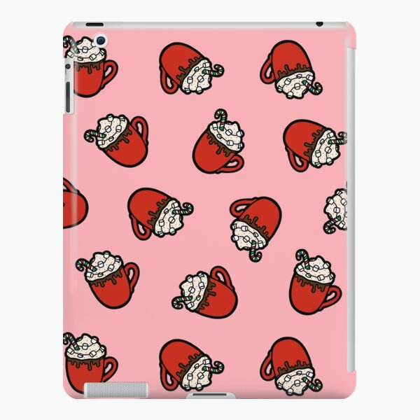 Festive Hot Cocoa Pattern in Pink iPad Snap Case