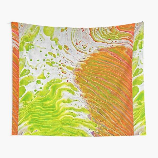 Lime Green Tornado  Tapestry