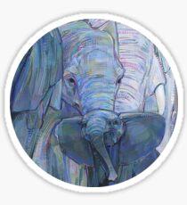 African elephants painting - 2012 Sticker