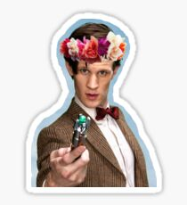 Eleventh Doctor with Flower Crown Sticker