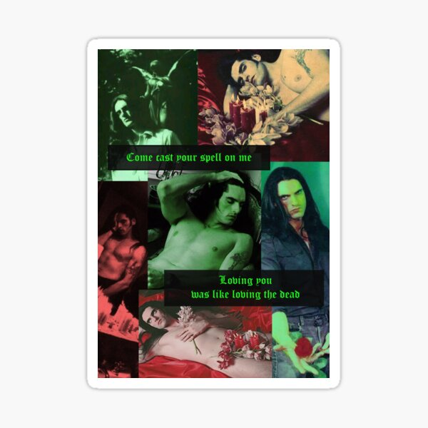 Type O Negative: Peter Steele Dark Goth Collage Edit  Sticker