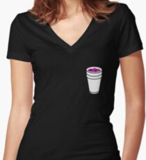 Lean Cup Women's Fitted V-Neck T-Shirt