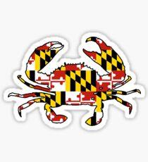 Maryland flag crab outline Sticker