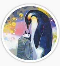 Emperor penguins painting - 2012 Sticker