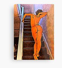'Expectation' - Beautiful Nude Woman Metal Print