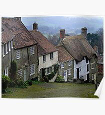Another view of Gold Hill, Shaftesbury, Dorset Poster