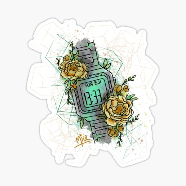 Time for flowers Sticker