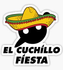 El Cuchillo Fiesta Knife Party Sticker