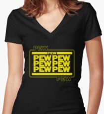 PEWPEW Women's Fitted V-Neck T-Shirt