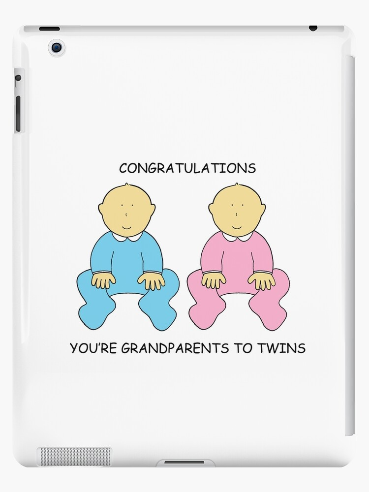 congratulations you re grandparents to twins ipad cases skins