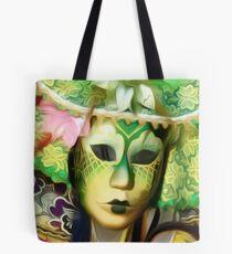 'Emerald Gold' - Venetian Mask Tote Bag