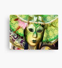 'Emerald Gold' - Venetian Mask Canvas Print