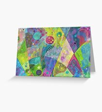Abstract intersection painting - 2014 Greeting Card