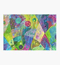 Abstract intersection painting - 2014 Photographic Print