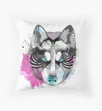 Dog or wolf Throw Pillow